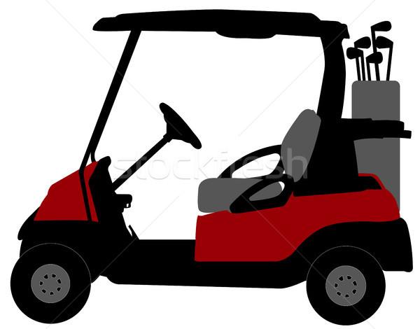 golf cart illustration Stock photo © bokica