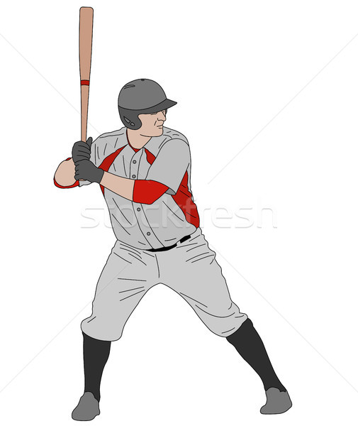 baseball detailed illustration Stock photo © bokica