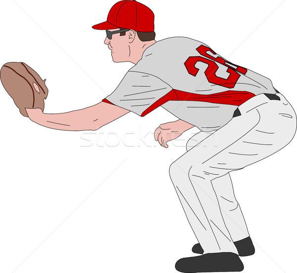 baseball player, detailed illustration Stock photo © bokica
