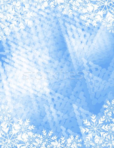 Mroźny kopia przestrzeń szczęśliwy tle przestrzeni zimą Zdjęcia stock © bokica