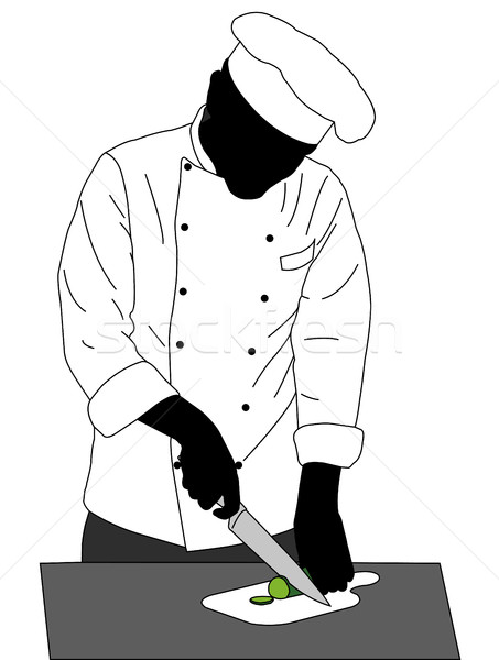 иллюстрация продовольствие человека повар службе Сток-фото © bokica