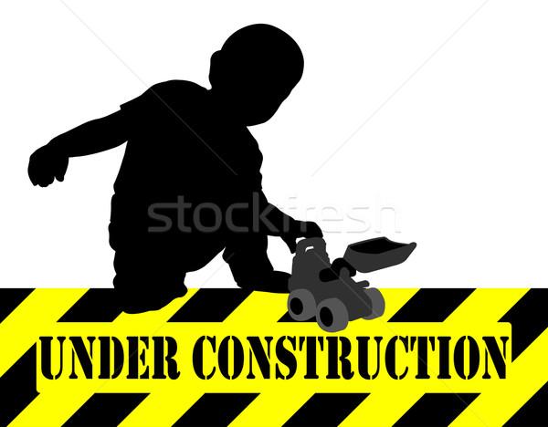 Bouw spelen bulldozer speelgoed kind achtergrond Stockfoto © bokica