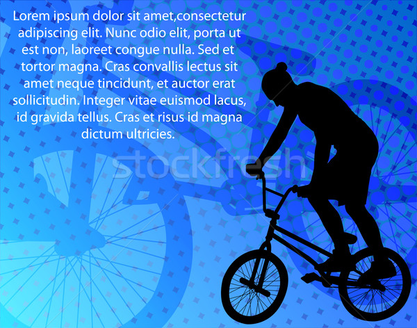 stunt bicyclist on the abstract background Stock photo © bokica