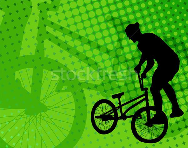 Szenzáció biciklis absztrakt sport utca ugrás Stock fotó © bokica