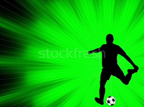 soccer player silhouette on the abstract background Stock photo © bokica