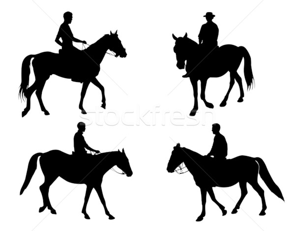 horsemen silhouettes Stock photo © bokica
