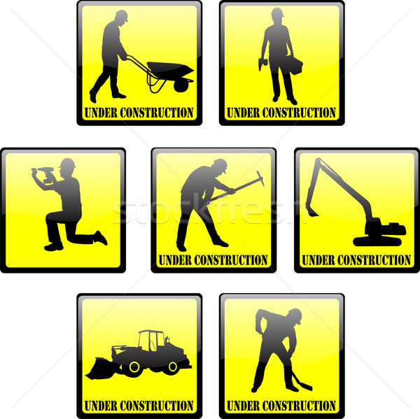 under construction signs  Stock photo © bokica
