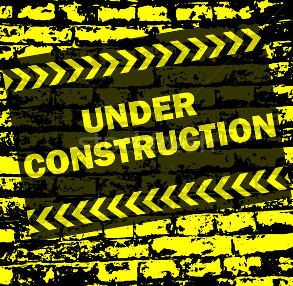 under construction background Stock photo © bokica