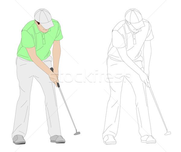 golfer illustration 3 Stock photo © bokica