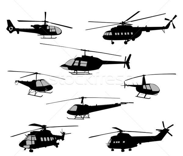 helicopters silhouettes Stock photo © bokica