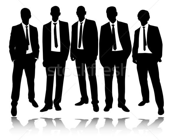 группа бизнесменов Постоянный позируют служба дизайна Сток-фото © bokica
