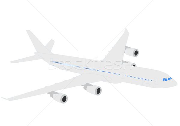 самолет иллюстрация плоскости двигатель крыло самолета Сток-фото © bokica