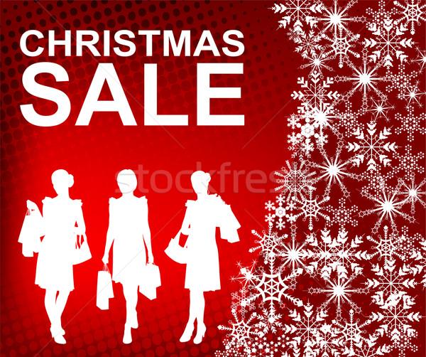 Christmas verkoop abstract ontwerp sneeuw teken Stockfoto © bokica