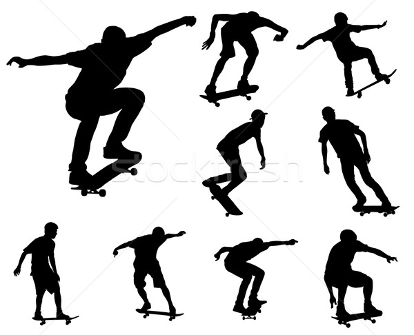 skateboarders silhouettes Stock photo © bokica