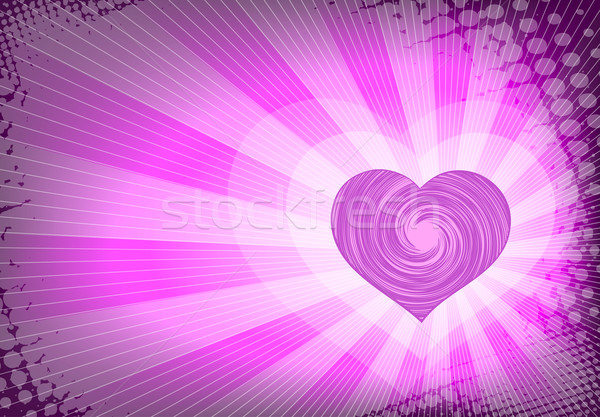 сердце дизайна карт шаблон романтика Сток-фото © bokica