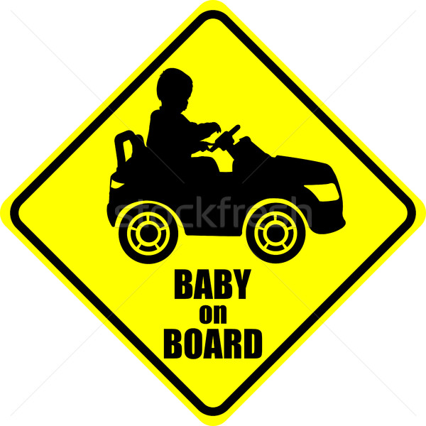 ребенка совета Label наклейку автомобилей дороги Сток-фото © bokica