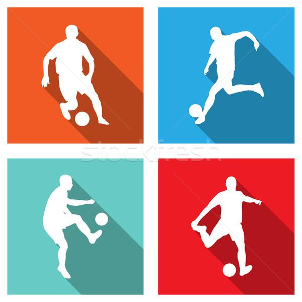 Футбол иконки веб мобильных применения Сток-фото © bokica