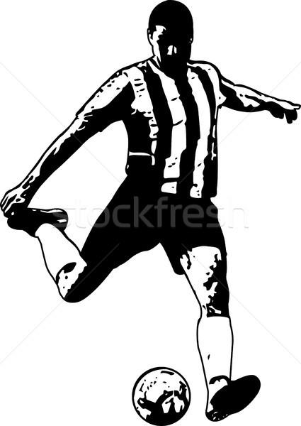 Labdarúgó rajz illusztráció világ futball férfiak Stock fotó © bokica