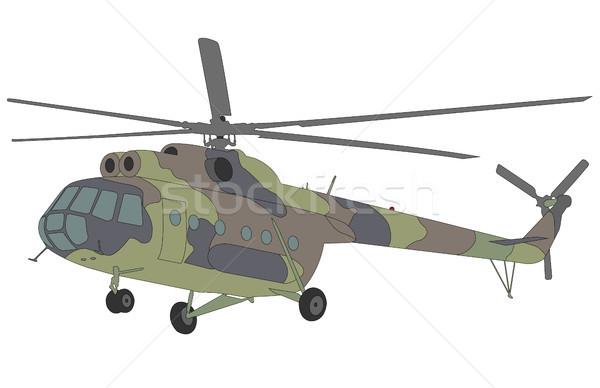 ヘリコプター 実例 エンジン 軍 空気 軍事 ストックフォト © bokica