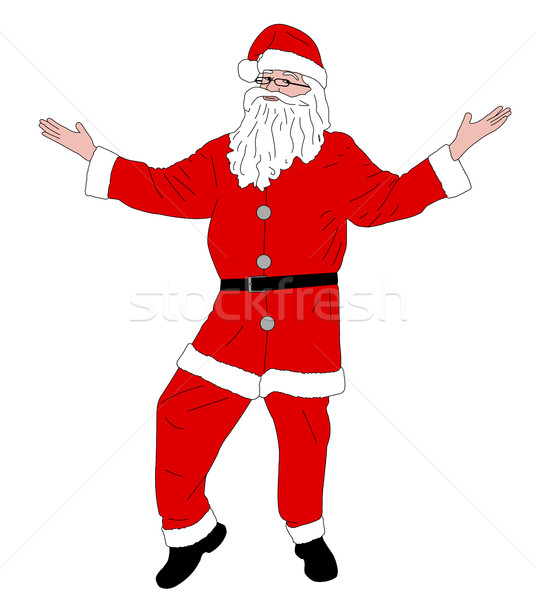 Santa Claus standing illustration Stock photo © bokica