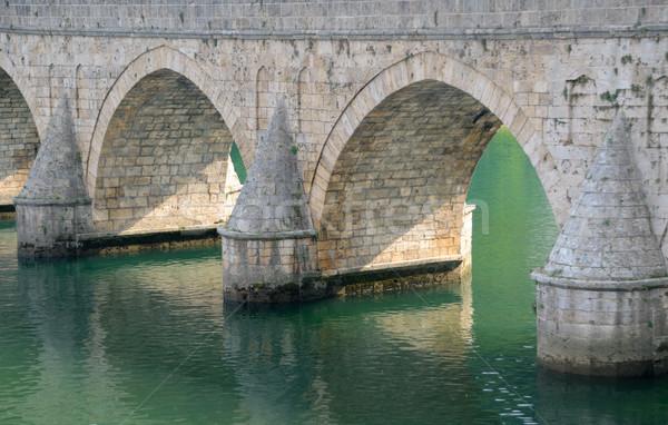 Río histórico puente piedra Foto stock © bokica