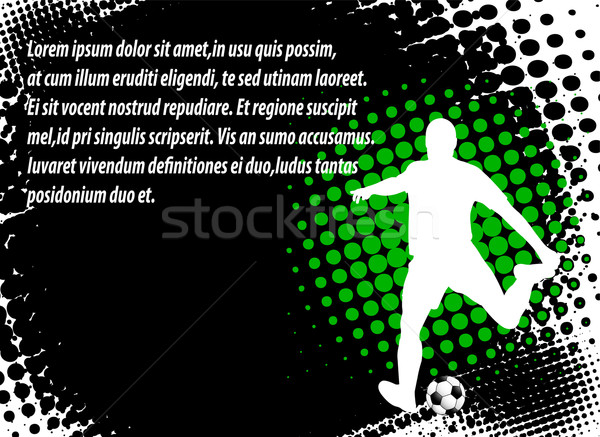 soccer player on the abstract background Stock photo © bokica
