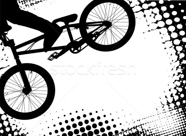 Halftoon exemplaar ruimte textuur man ruimte fiets Stockfoto © bokica
