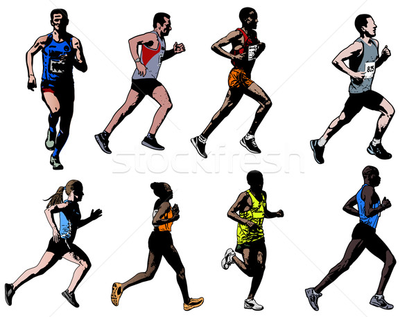 runners collection Stock photo © bokica