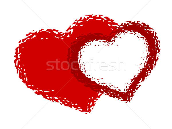 Twee harten abstract hart ontwerp schoonheid Stockfoto © bokica