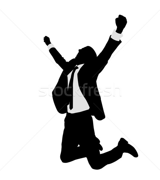 succesful bussinesman celebrating victory Stock photo © bokica