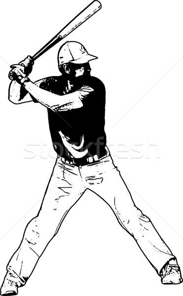 baseball player, sketch illustration Stock photo © bokica