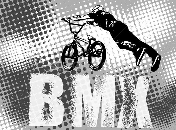 Szenzáció kerékpáros absztrakt textúra utca bicikli Stock fotó © bokica