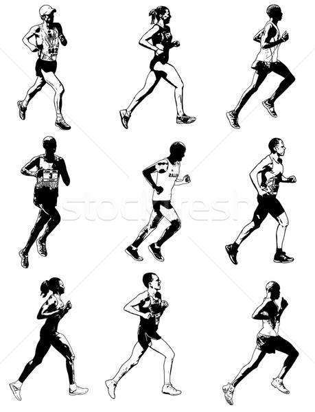 Maraton İkincisi örnek kadın spor vücut Stok fotoğraf © bokica