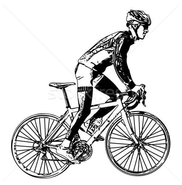 race bicyclist illustration 3 Stock photo © bokica
