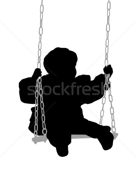 child swinging  Stock photo © bokica