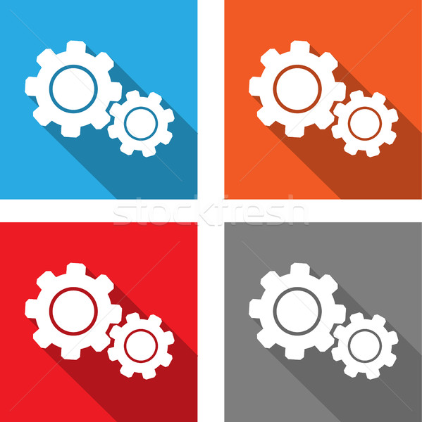 settings - flat style icon for web and mobile applications Stock photo © bokica
