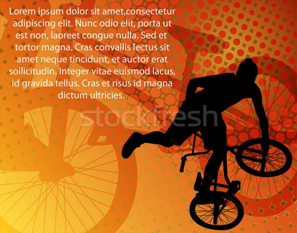 Szenzáció biciklis absztrakt sport utca háttér Stock fotó © bokica