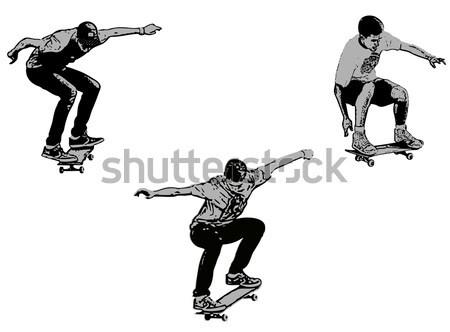 спорт тело мальчика Skate совета игры Сток-фото © bokica
