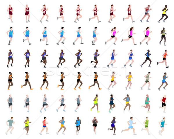 60 люди работает тело здоровья Сток-фото © bokica