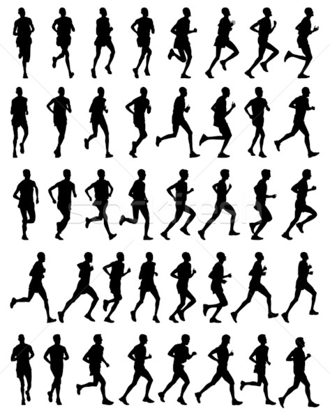 40 marathon lopers hoog kwaliteit mannelijke Stockfoto © bokica
