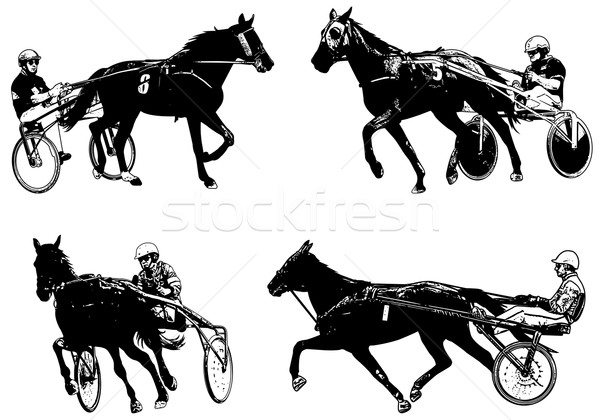 Trotters race sketch illustration Stock photo © bokica