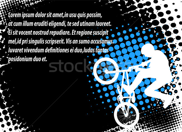 bmx cyclist on the abstract background Stock photo © bokica
