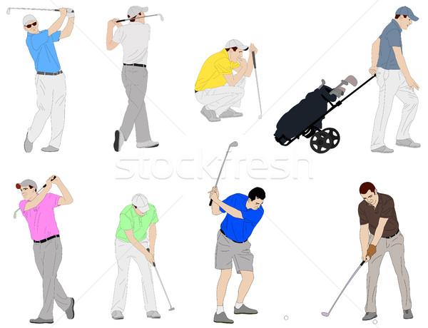 Ilustración detallado hierba hombre deporte club Foto stock © bokica