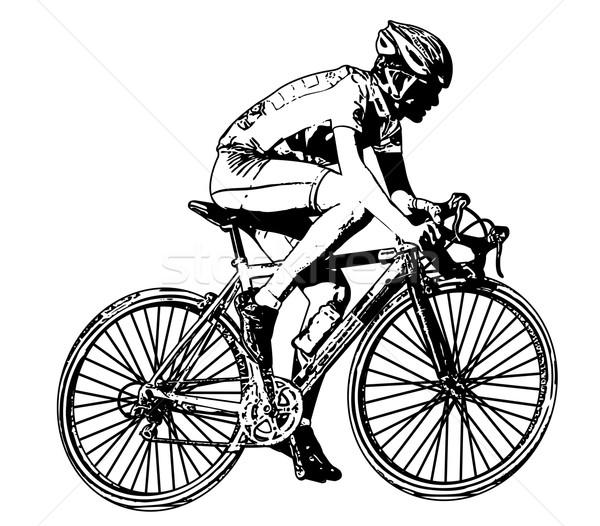 гонка иллюстрация спорт костюм мальчика Сток-фото © bokica