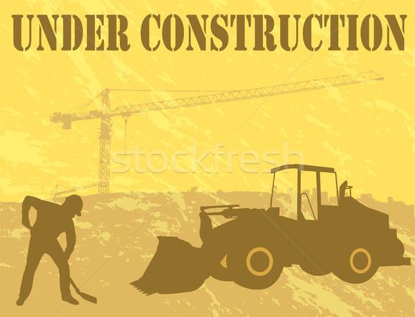építkezés üzlet férfi terv felirat városi Stock fotó © bokica