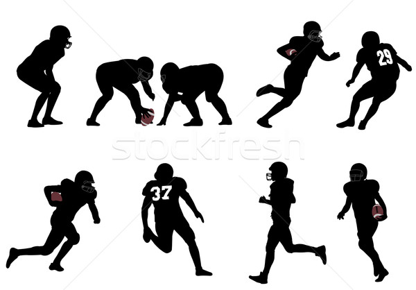 американский футбола мужчин мяча скорости Сток-фото © bokica