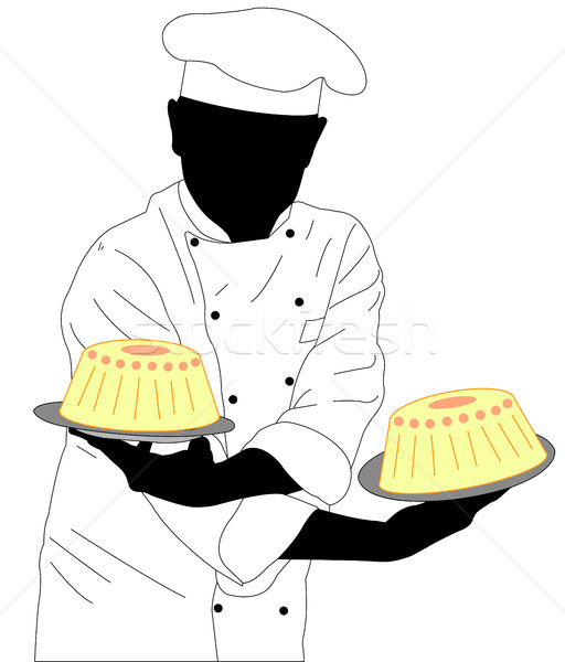 Twee gebak voedsel hand keuken Stockfoto © bokica