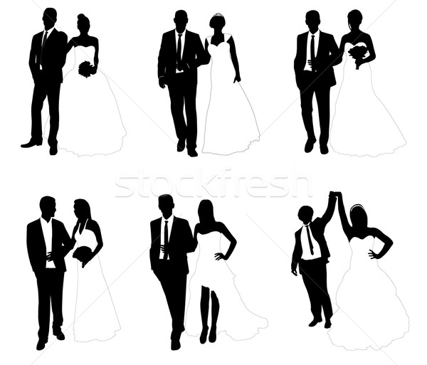 Bruiloft paren vrouw mode paar vrouwelijke Stockfoto © bokica