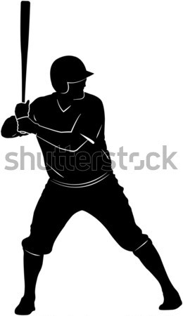 Jogador de beisebol silhueta esportes saúde equipe correr Foto stock © bokica