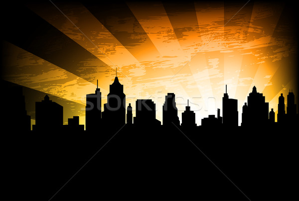 city skyline on the abstract background Stock photo © bokica